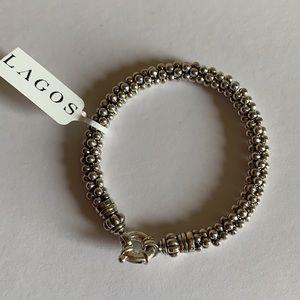 LAGOS S/S caviar rope bracelet